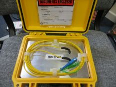 1km launch lead single mode SCA-SC * This lot is located at Unit 15, Horizon Business Centre,