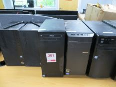 Eight CloneTower PC's to include 5x i5, 2x i3 & 1 x i7 * This lot is located at Unit 15, Horizon