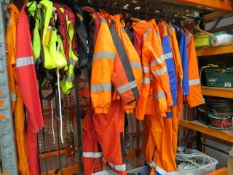 Quantity of protective workwear to include life jackets, transit suits, ratchets, steel rope,