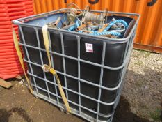 IBC Cage to include various cable runners *This lot is located at Gibbard Transport, Fleet Street