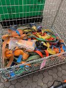 Contents of stillage to include quantity of used ratchet straps as lotted * This lot is located at