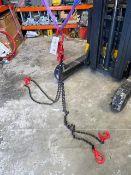 Set of 4 leg 2m long 7mm lifting chains s/n 36879. *N.B. This lot has no record of Thorough