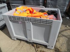 Stackable Fishbox storage container approx. 1200mm (L) x 800mm (W) x 800mm (H) c/w various branded