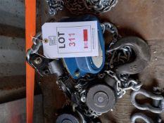 Xona 5t chin block XNCB, T10 x 300mm chain with 3m lift, serial number 009240318 (YOM 11/2020). *N.