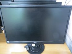 """Four AOC E2270 SW 22"""" Computer Screens* This lot is located at Unit 15, Horizon Business Centre,"""