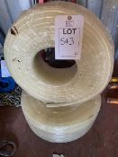 Two reels of water pipe 12.5mm dia 100m length *This lot is located at Gibbard Transport, Fleet