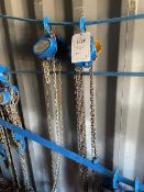 Two Lifting Gear 1000Kg chain hoists model HS2-A-619. *N.B. This lot has no record of Thorough