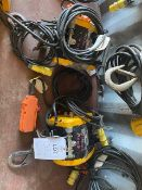 Two Jake DU-300A 300Kg electric mini wire rope hoists. *N.B. This lot has no record of Thorough
