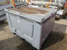 Stackable Fishbox storage container approx. 1200mm (L) x 800mm (W) x 800mm (H) c/w various straps,