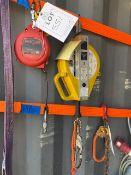 DBI Sala ultra lock self retracting fall lifeline and a Miller Falcon self retracting fall lifeline.