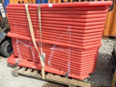 Pallet to include approx. 24 crowd barrier*This lot is located at Gibbard Transport, Fleet Street