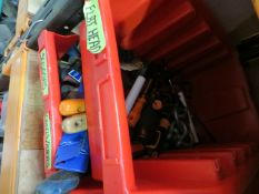 Two shelves to include various tools to include screw drivers, chisels, knives, brushes, grippers,