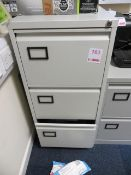 Steel 3 drawer Filing Cabinet & four Steel 2 drawer filing cabinets* This lot is located at Unit 15,