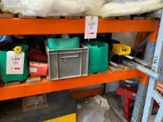 Contents of shelf to include threaded bar, nuts, bolts as lotted * This lot is located at Unit 15,