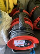 Three sets of twin socket cable reels 25M *This lot is located at Gibbard Transport, Fleet Street