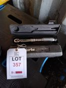 """2 x Clarke 1/4"""" drive torque wrenches *This lot is located at Gibbard Transport, Fleet Street"""