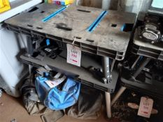 4 x MAC Allister foldable plastic workbenches *This lot is located at Gibbard Transport, Fleet