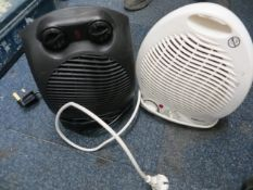 Two electric fan heaters (1 on euro plug)* This lot is located at Unit 15, Horizon Business