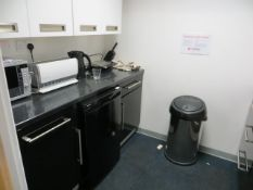 The contents of kitchen to include Russell Hobbs Toaster, Cookworks 700W Microwave Oven, Breville