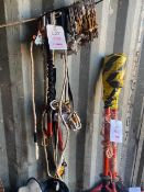Approx. 30 various climbing lanyards and clips as lotted. *N.B. This lot has no record of Thorough