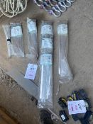 Six packs of various size stainless steel ties *This lot is located at Gibbard Transport, Fleet