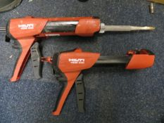 Two Hilti Glue Guns HDM330 with cases and Two Hilti Glue Guns HDM330 without cases * This lot is
