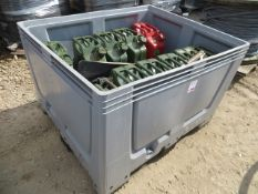 Stackable Fishbox storage container approx. 1200mm (L) x 800mm (W) x 800mm (H) c/w 11 empty Jerry