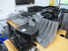 A Quantity of Office Sundries to include trays, bins, scissors pens etc., as lotted* This lot is