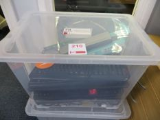 Plastic Storage Container containing approx. 14 various keyboards & 2 mice* This lot is located at