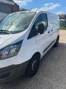 Ford Transit Custom 270 6-speed manual diesel white panel van Registration No. BW17 FPF d.o.r. 30/