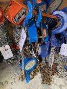 Two Lifting Gear 1000Kg chain hoist s/n 16054028 & 16053979 (2016). *N.B. This lot has no record