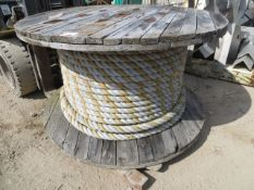 """Reel of 2"""" rope as lotted *This lot is located at Gibbard Transport, Fleet Street Corringham,"""