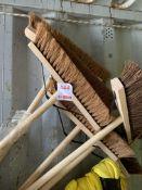 Six unused yard brooms *This lot is located at Gibbard Transport, Fleet Street Corringham, Essex