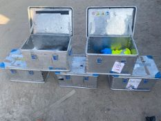 Five Zarges Eurobox Aluminium Storage Boxes *This lot is located at Gibbard Transport, Fleet