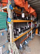 Two bays of medium duty boltless pallet racking with six shelves *This lot is located at Gibbard
