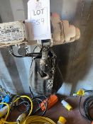 Jake DU-901 500Kg electric mini chain hoist 110V (2016) s/n BTLP005463-042. *N.B. This lot has no