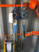 Two Lifting Gear 1500Kg Lever hoists. *N.B. This lot has no record of Thorough Examination. The