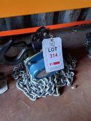 Xona 5t chin block XNCB, T10 x 300mm chain with 3m lift, serial number 009240292 (YOM 11/2020). *N.