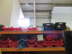 Two shelves to include various earth connectors, cleats, cable glands, earth sleeve, udders,