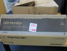 """Samsung LED SF354 LED 24"""" computer monitor (Boxed)* This lot is located at Unit 15, Horizon Business"""