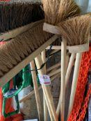 Eight unused yard brooms *This lot is located at Gibbard Transport, Fleet Street Corringham, Essex