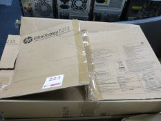 """HP Elite Display E233 23"""" computer monitor (Boxed)* This lot is located at Unit 15, Horizon Business"""