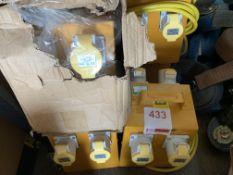 Three110v Splitter boxes *This lot is located at Gibbard Transport, Fleet Street Corringham, Essex