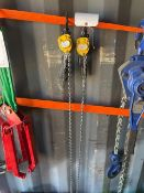 Two Yale Handy 250Kg Lever Hoists. *N.B. This lot has no record of Thorough Examination. The