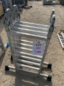 Four section fold away ladder *This lot is located at Gibbard Transport, Fleet Street Corringham,
