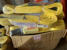 A box of approx. 30 Unused duplex webbing slings Cap 3Ton, 3M length. *N.B. This lot has no record