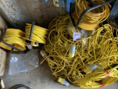 A quantity of 110v Cables as lotted untested *This lot is located at Gibbard Transport, Fleet Street