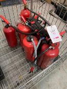 Ten various Fire Extinguishers as lotted * This lot is located at Unit 15, Horizon Business