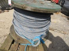 """Reel of 1"""" steel rope as lotted *This lot is located at Gibbard Transport, Fleet Street"""