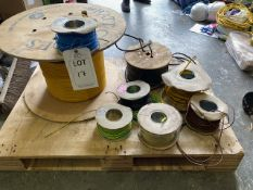 Eight various reels of cable * This lot is located at Unit 15, Horizon Business Centre, Alder Close,